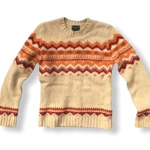 {ANF} Wool Fair Isle Crew Sweater